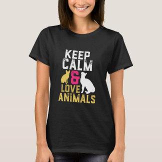Houd de T-shirt van de Kalme en Dieren van de