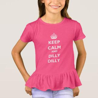 Houd de T-shirt van de Ruche van de Kalme en