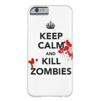 houd de telefoonhoesje van kalme en dodenzombieën barely there iPhone 6 hoesje