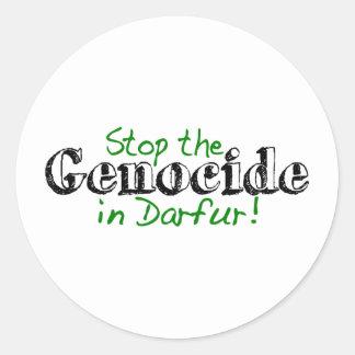 Houd de Volkerenmoord Darfur tegen Ronde Sticker