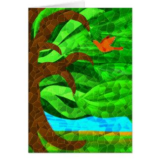 Houd een groene boom in uw hartkaart kaart