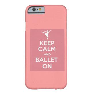 Houd en ballet op iPhone 6 hoesje kalm Barely There iPhone 6 Hoesje