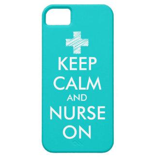 Houd en verpleegster op iPhone 5 hoesje | Turkoois