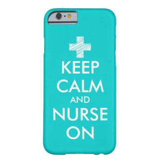 Houd en verpleegster op iPhone 6 hoesje | Turkoois Barely There iPhone 6 Hoesje