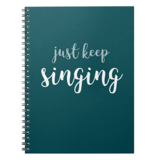 Houd enkel zingend Spiraal - verbindend Ringband Notitieboek