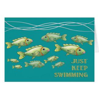 Houd enkel zwemmend Notecard Briefkaarten 0