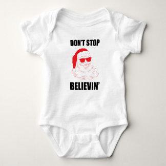 Houd geen Kerstman Believin met het Baby van de Romper