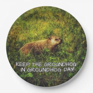 Houd Groundhog in het bord van de Dag Groundhog