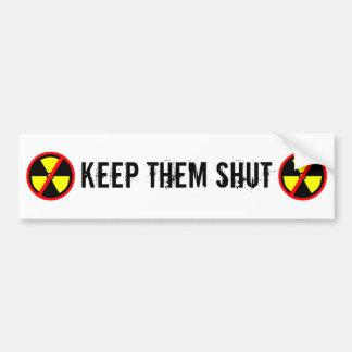 Houd hen de Gesloten Anti-nucleaire Slogan van de Bumpersticker