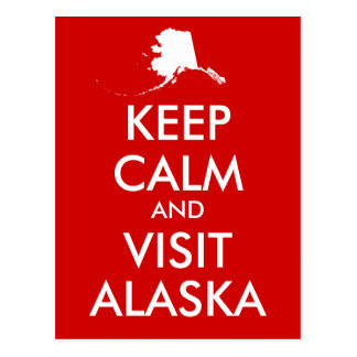 Houd het Briefkaart van Kalm en Alaska van het
