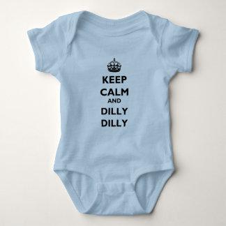 Houd het Kalme en Baby Jersey van Dilly Dilly Lt. Romper