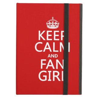Houd het Kalme en Meisje van de Ventilator (in iPad Air Hoesje