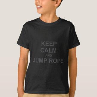 Houd het Kalme en zwarte grijze blauw van het T Shirt