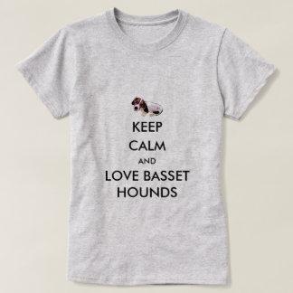 Houd het Kalme T-shirt van Basset Hound