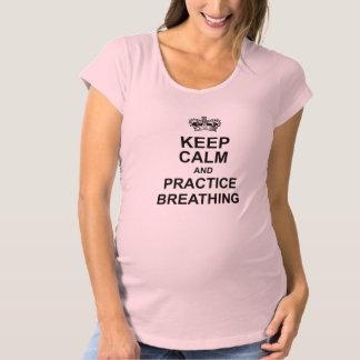 Houd het Kalme T-shirt van het Moederschap
