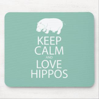Houd het Nijlpaard van de Druk van Kalme en Hippos Muismatten