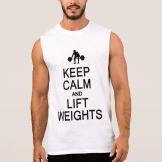 Houd het overhemd van de Kalme & Gewichten van de T Shirt