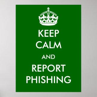 Houd het Poster van Kalme en Phishing van het
