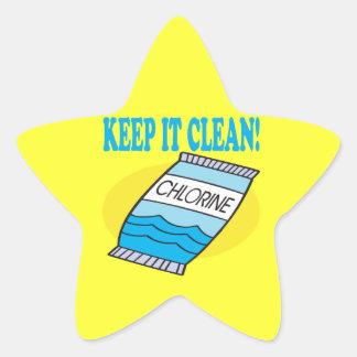Houd het Schoon Ster Sticker