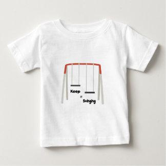 Houd het slingerend baby t shirts