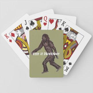 Houd het Squatchy Speelkaarten