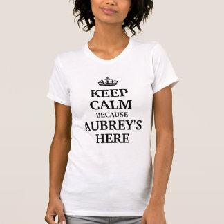 Houd hier kalm omdat Aubrey T Shirt