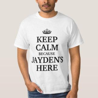 Houd hier kalm omdat Jayden T Shirt