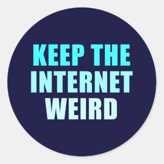 houd Internet bizar Ronde Sticker