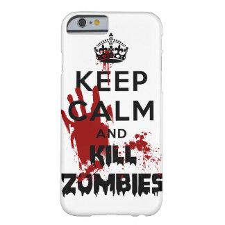 Houd iPhone 6 van de Kalme en Zombieën van het Dod Barely There iPhone 6 Hoesje