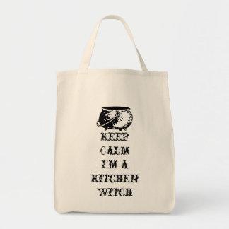 Houd Kalm, ben ik een Heks van de Keuken Draagtas