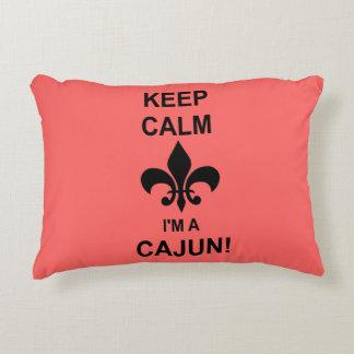 Houd Kalm, ben ik een Hoofdkussen van Cajun Decoratief Kussen