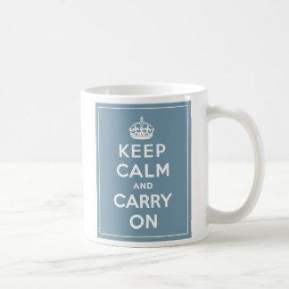 Houd Kalm & draag het Blauw van het Ei van de Eend Koffiemok