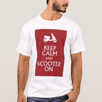 Houd Kalm en Autoped op T-shirt