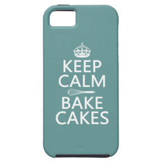 Houd Kalm en bak Cakes Tough iPhone 5 Hoesje