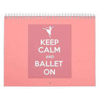 Houd kalm en ballet op kalender