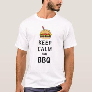 Houd Kalm en BBQ T Shirt