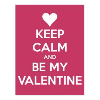 Houd Kalm en ben Mijn Bes van Valentijn Briefkaart