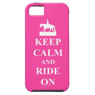 Houd kalm en berijd op, roze tough iPhone 5 hoesje