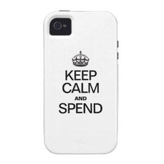 HOUD KALM EN BESTEED iPhone 4 HOESJE