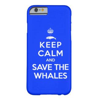 Houd Kalm en bewaar de Walvissen Barely There iPhone 6 Hoesje