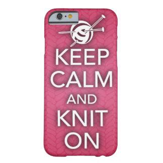 Houd Kalm en brei op iPhone 6 hoesje Barely There iPhone 6 Hoesje