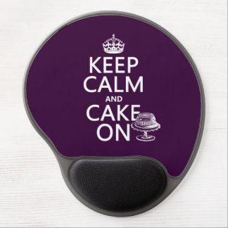 Houd Kalm en Cake (klantgericht) Gel Muismat