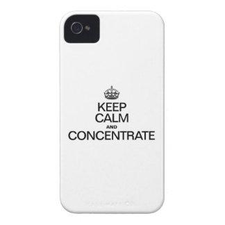 HOUD KALM EN CONCENTRAAT iPhone 4 HOESJE