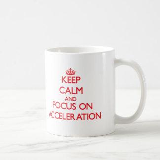Houd kalm en concentreer me bij de VERSNELLING Koffiemok