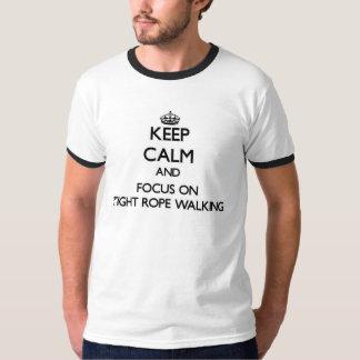 Houd Kalm en concentreer me bij het Strakke Lopen T Shirt