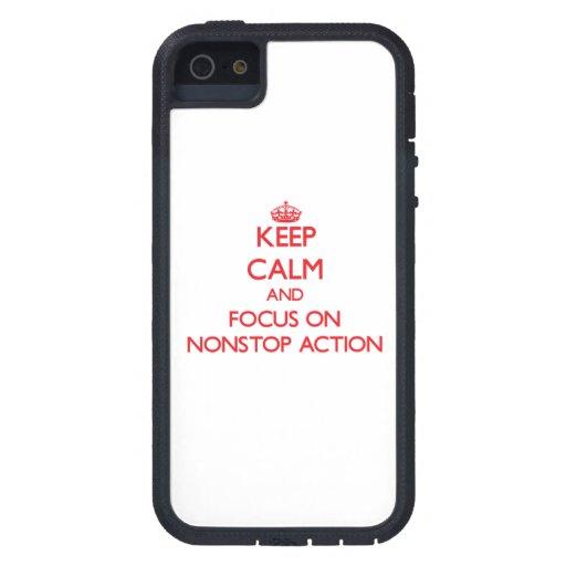 Houd Kalm en concentreer me op Aanhoudende Actie iPhone 5 Case-Mate Hoesje