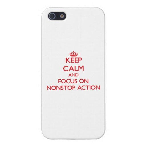 Houd Kalm en concentreer me op Aanhoudende Actie iPhone 5 Cases