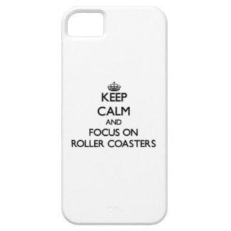 Houd Kalm en concentreer me op Achtbanen Barely There iPhone 5 Hoesje