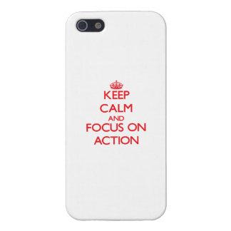 Houd kalm en concentreer me op ACTIE