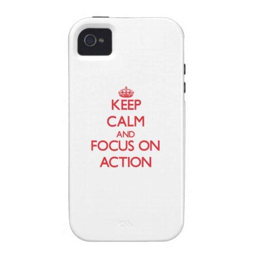 Houd kalm en concentreer me op ACTIE Case-Mate iPhone 4 Cover